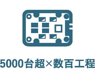 5000台超×数百工程