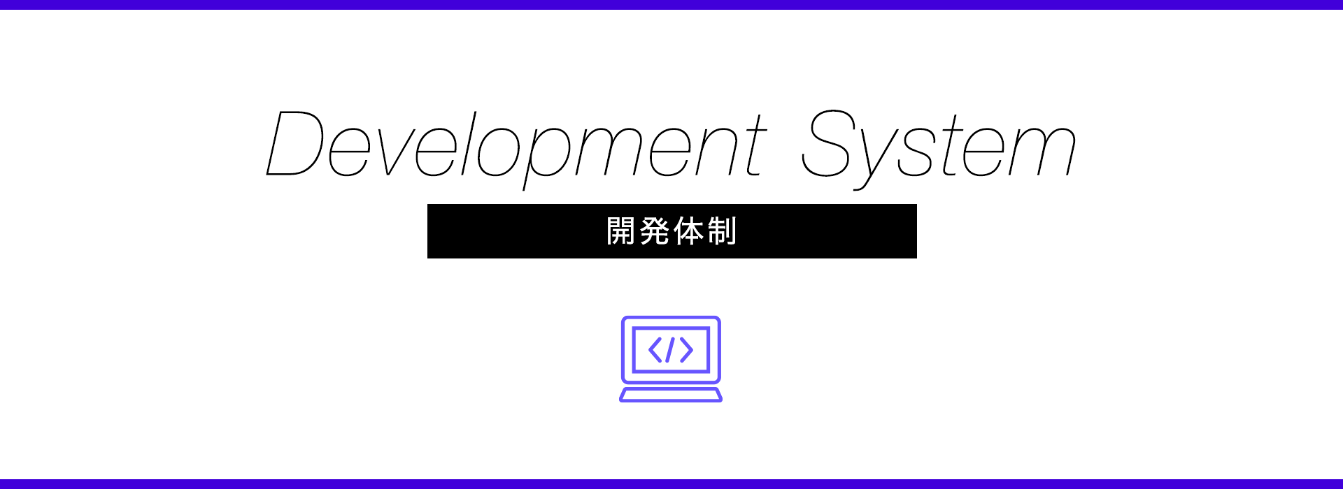 Development System 開発フロー